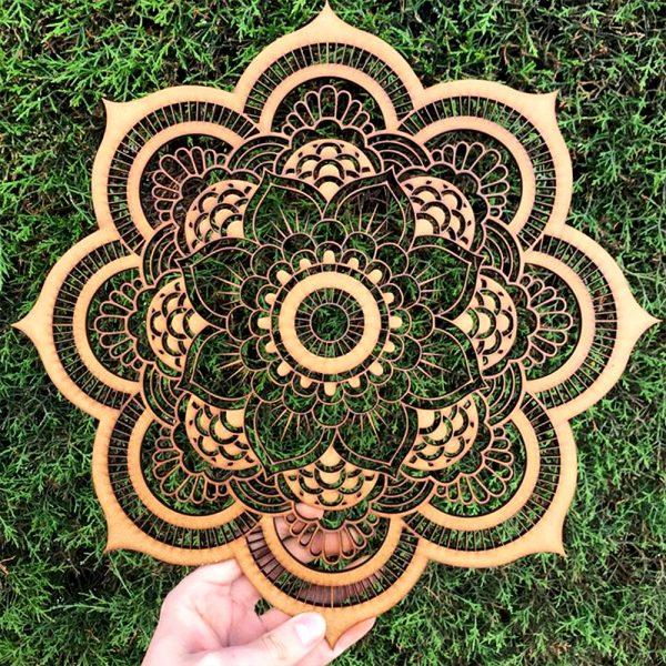Mandala Alisha en madera