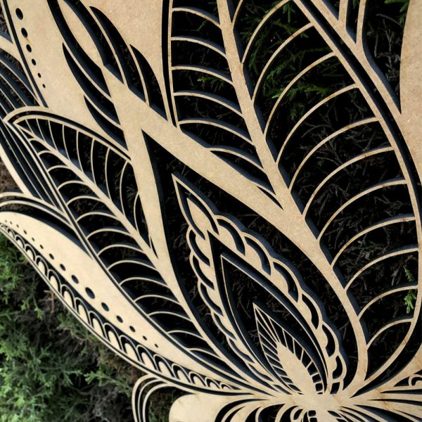 Mandala Lotus en madera
