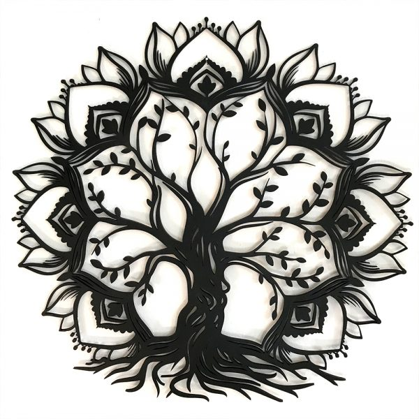 Mandala Tree en madera