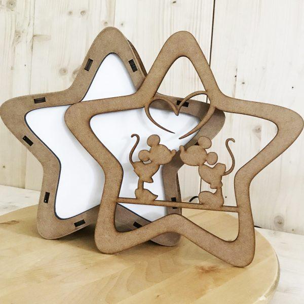 Lámpara Estrella LED Mouse Kiss