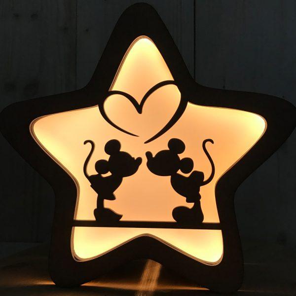Frontal Lámpara Estrella – Mouse Kiss