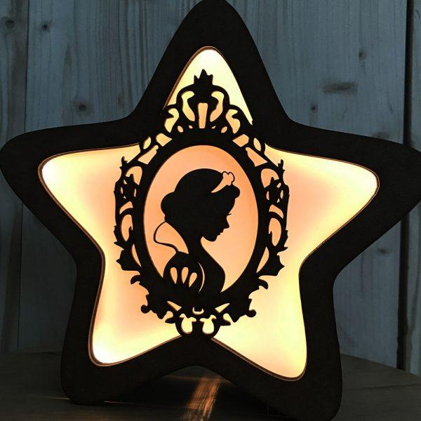 Frontal Lámpara Estrella – Princesa