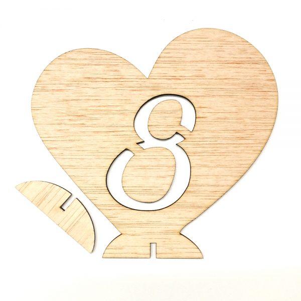 Número Mesa Corazón