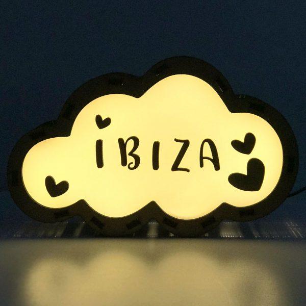 Lámpara Nube LED Corazones