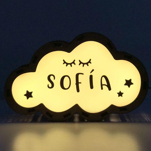 Lámpara Nube LED Pestañas
