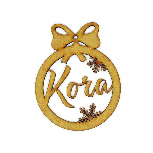 Bola Navidad una capa «Nombre Personalizado-Lazo»