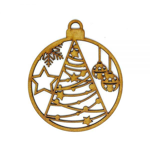Bola Navidad una capa «Arbol»