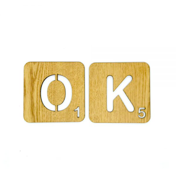 Scrabble letras troqueladas