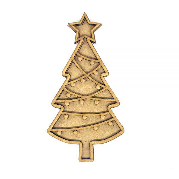 Shaker Árbol de Navidad Scrap 17 x 9 cm