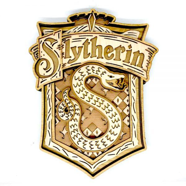 Escudo Slytherin HP en madera
